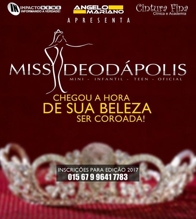 Primeiras selecionadas para o Miss Deodápolis 2017
