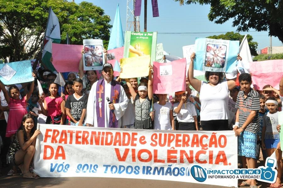 1ª Caminhada pela Paz em Deodápolis - Campanha da Fraternidade 2018