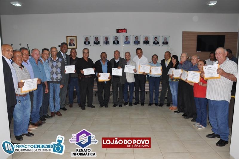 23ª Expoad - Festa do Peão: Entrega de títulos 'Cidadão Deodapolensse' na Câmara Municipal