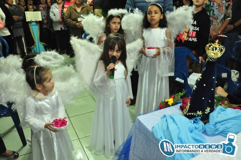 Visita da imagem de Nossa Senhora Aparecida na Capela