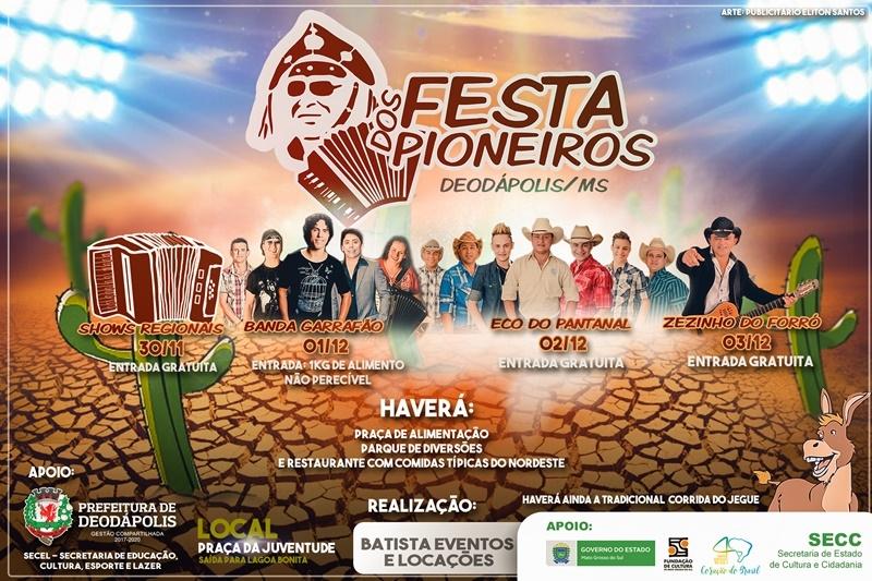 3e99819488 Nova data definida   Festa dos Pioneiros  acontecerá no final deste ...