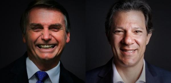 CNT/MDA: Bolsonaro (28,2%) e Haddad (25,2%) registram empate técnico