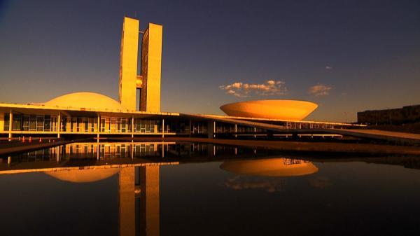 O prédio do Congresso Nacional — Foto: Luis Rodnei/TV Globo