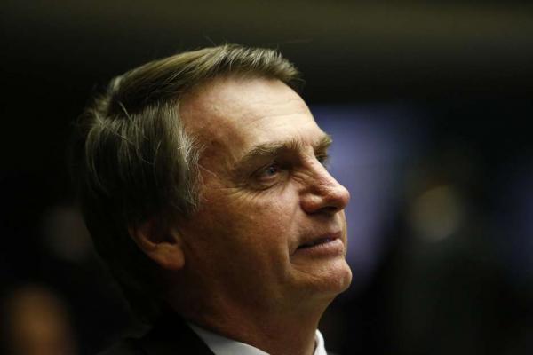 O candidato Jair Bolsonaro no plenário da Câmara dos Deputados, em Brasília. Foto: Dida Sampaio / Estadão Conteúdo