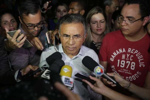Odilon durante entrevista coletiva. - Crédito: Divulgação