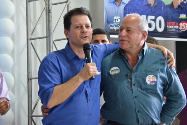 Deputado Estadual reeleito Renato Câmara com o Prefeito de Deodápolis, Valdir Sartor.
