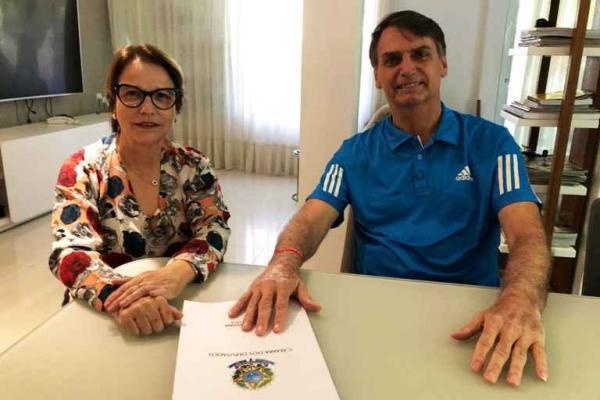Deputada de MS é cotada para Ministério da Agricultura em governo Bolsonaro