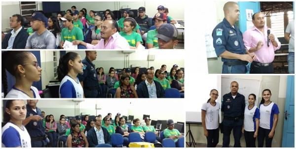 Acadêmicas apresentaram em Porto Vilma palestra sobre a 'Violência contra a mulher'