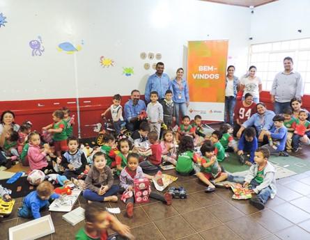 CMEI recebeu diversos brinquedos doados pela Usina Atvos através do programa 'Energia Social'