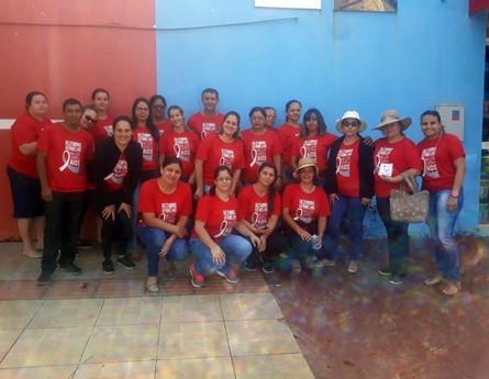 Equipe da Secretaria de Saúde realizou na manhã desta segunda (3) ação do 'Dezembro Vermelho'