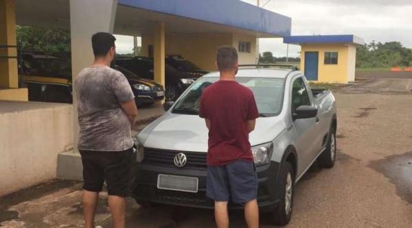 Dupla é presa em MS tentando dar golpe em veículo locado em Minas