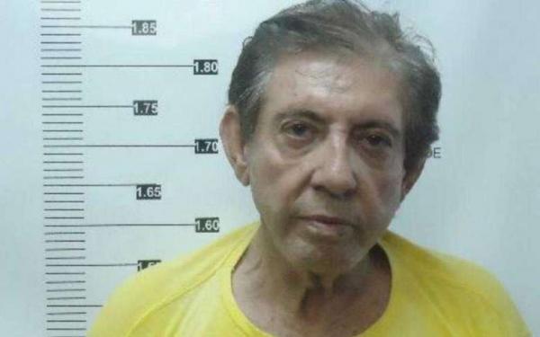 João de Deus no registro do sistema penitenciário, em Goiás - Crédito: Reprodução/TV Anhanguera