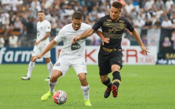 Corinthians e Santos empataram neste domingo na Arena (Foto: Ricardo Moreira/Fotoarena) Foto: LANCE!