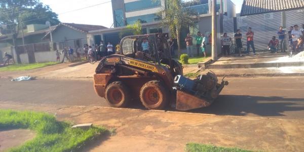 Trabalhador morre esmagado por minicarregadeira em Dourados