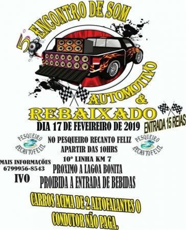 Domingo (17) Deodápolis será palco do 5º Encontro de Som Automotivo do Recanto Feliz