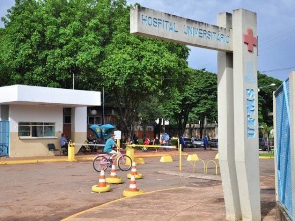Uma das entradas do Hospital Universitário, em Campo Grande (Foto: Arquivo)