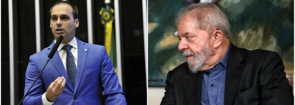 Desumano, filho de Bolsonaro agrideLula no dia da morte do neto de sete anos