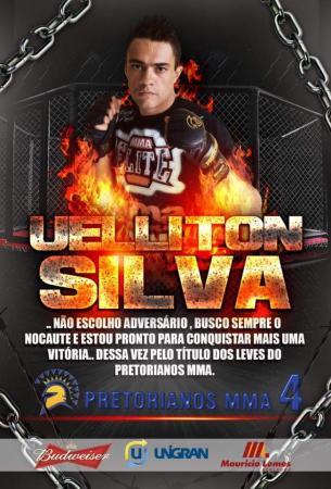 Ueliton Silva vai disputar o cinturão até 70kg em uma grande luta no Pretorianos MMA 4
