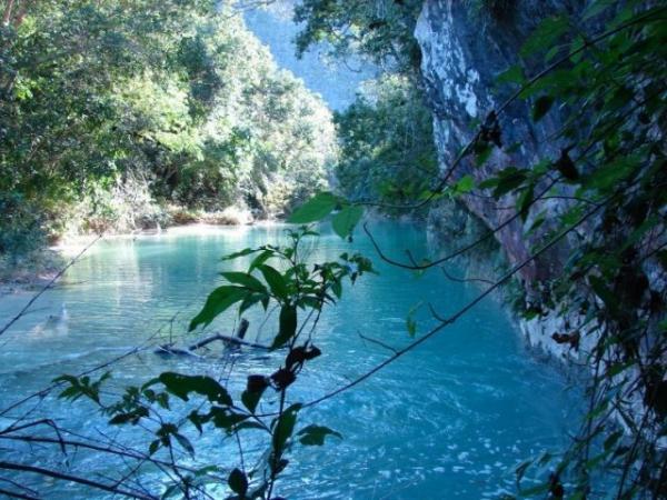 O Córrego Azul é um lugar para quem curte flutuação e mergulho ou simplesmente de contemplação (Foto: ICMBio/Bonito)