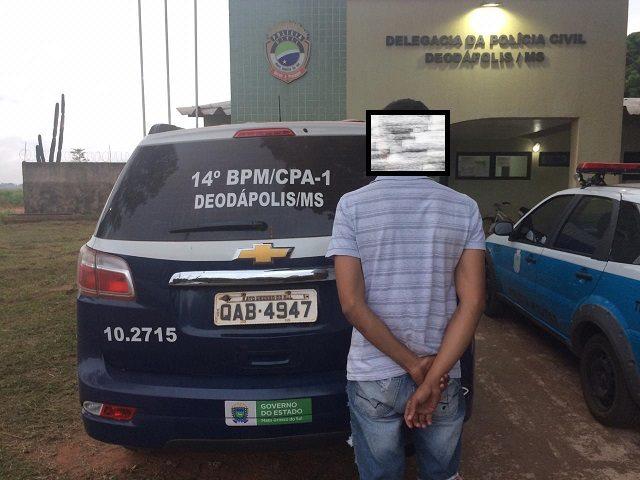 Motorista detido foi levado para a Delegacia de Policia Civil de Deodápolis