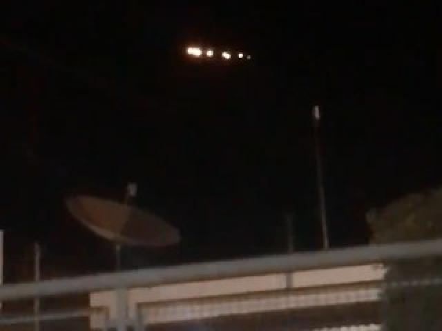 Objeto voador sobrevoando residência de Anastácio. - Crédito: Divulgação