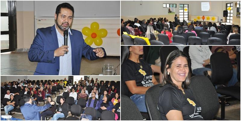 Na foto o Defensor Publico, Dr. Vagner e a Secretaria de Assistência Social, Marcia Cristina além de imagens dos servidores no evento. Foto: Eliton Santos.