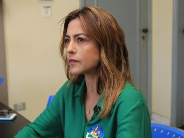 Soraya Thronicke em entrevista ao Campo Grande News no ano passado durante a campanha eleitoral (Foto: Marina Pacheco/Arquivo)