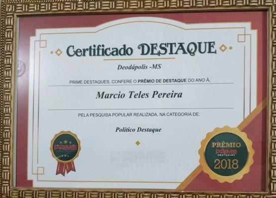 Certificado. Foto: Divulgação.