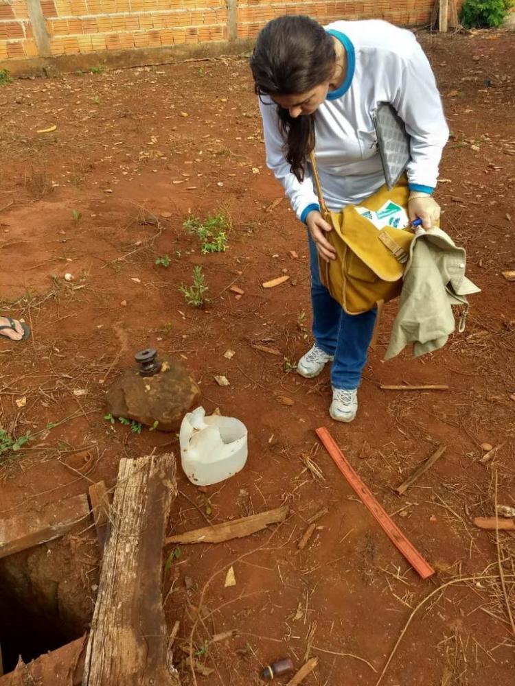 CCZ faz trabalho de prevenção ao Aedes Aegypti nas casas - Crédito: Divulgação