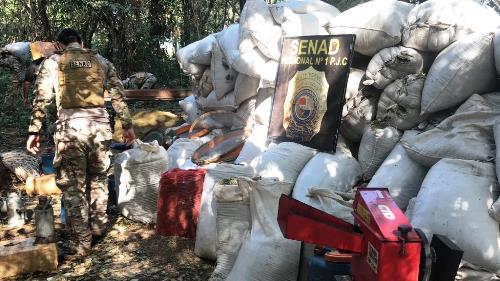 Polícia do Paraguai encontra e destrói acampamento do tráfico na fronteira