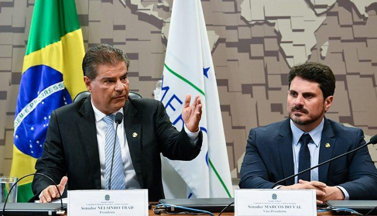 Nelsinho Trad durante audiência da Comissão de Relações Exteriores do Senado (Foto: Pedro França/Agência Senado)