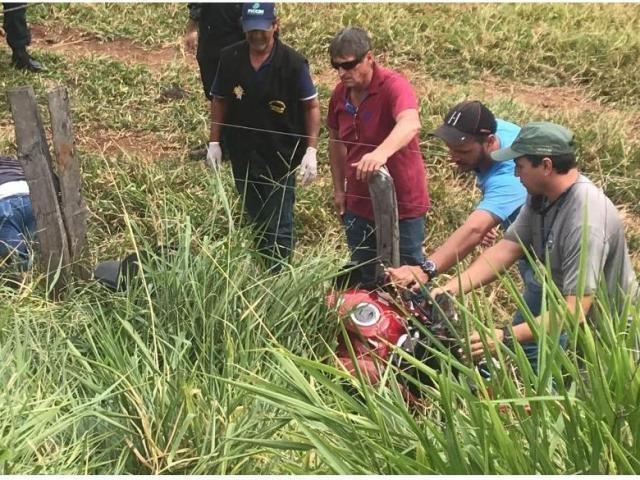 Corpo estava distante 2m da motocicleta - Crédito: Marina Pacheco/Campo Grande News