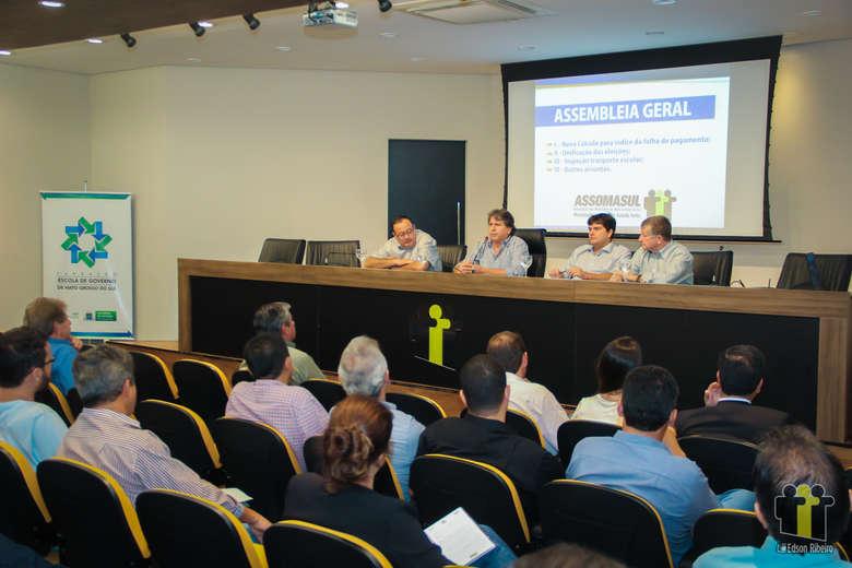 Reunião de prefeitos aconteceu na Assomasul - Crédito: Edson Ribeiro/Divulgação