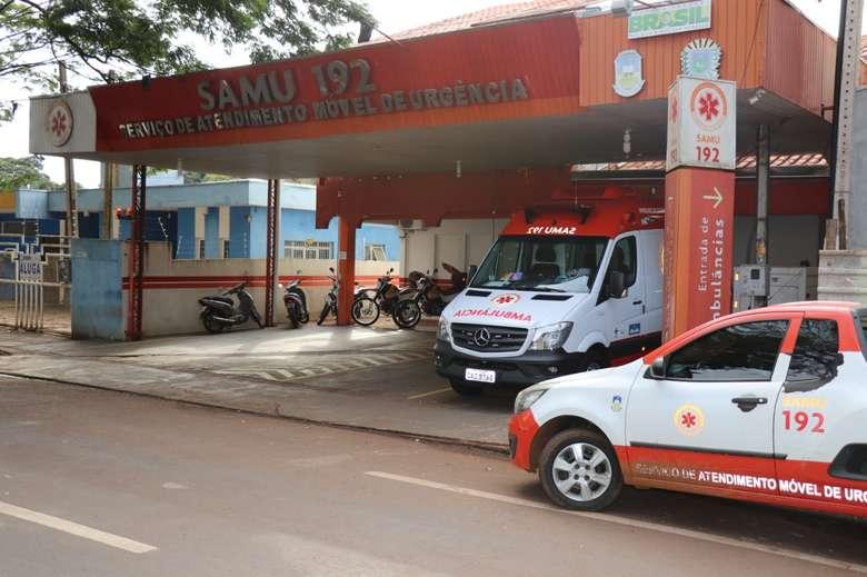 Samu uma das unidades de saúde de Dourados que recebe repasses do governo do Estado. - Crédito: Divulgação