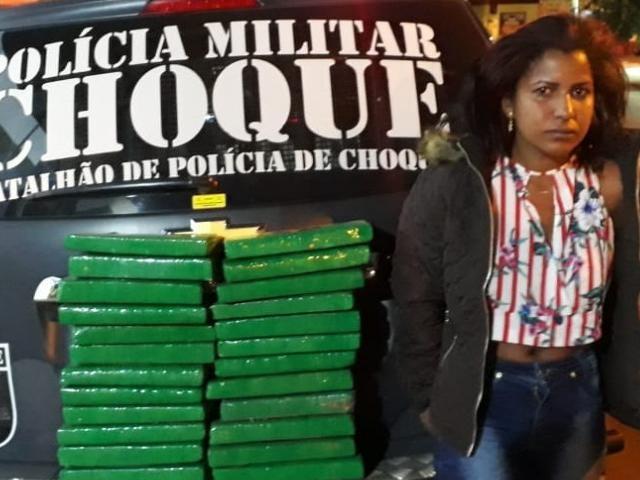 Traficante revenderia a droga em Campo Grande. (Foto: Divulgação/Batalhão de Choque)