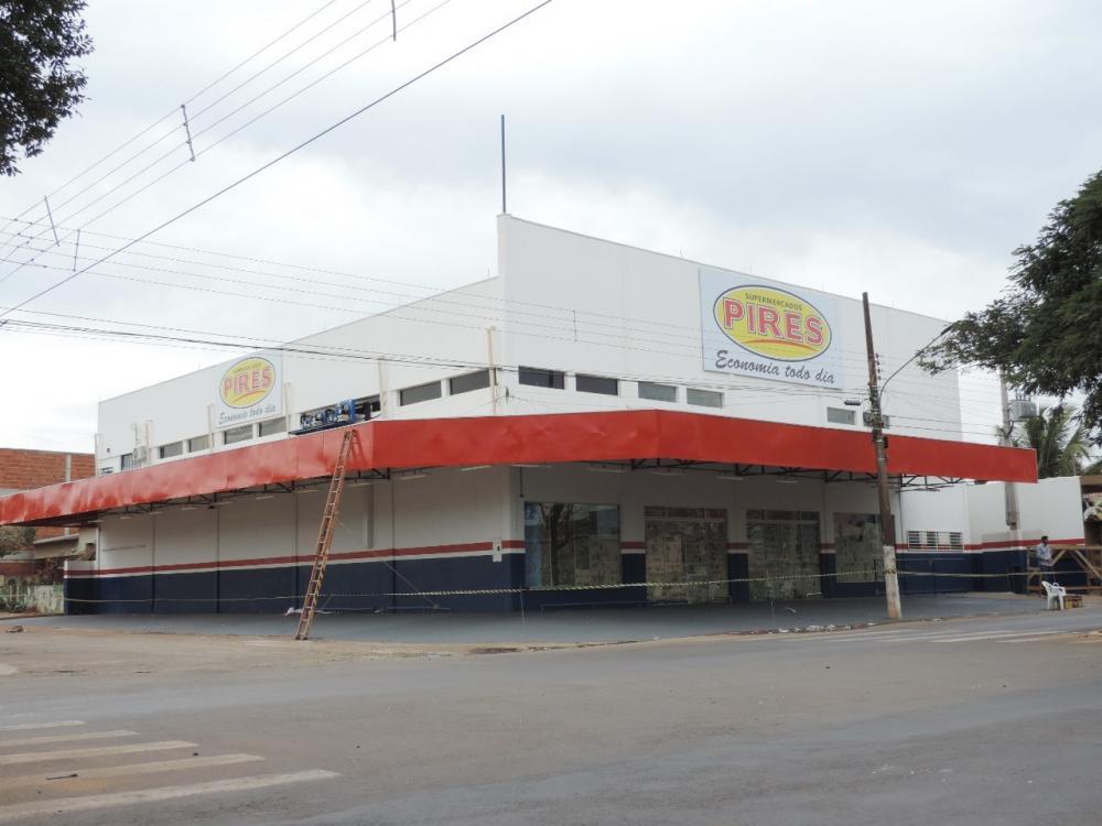 Supermercado Pires está recebendo ultimos detalhes antes da grande inauguração em Deodápolis.