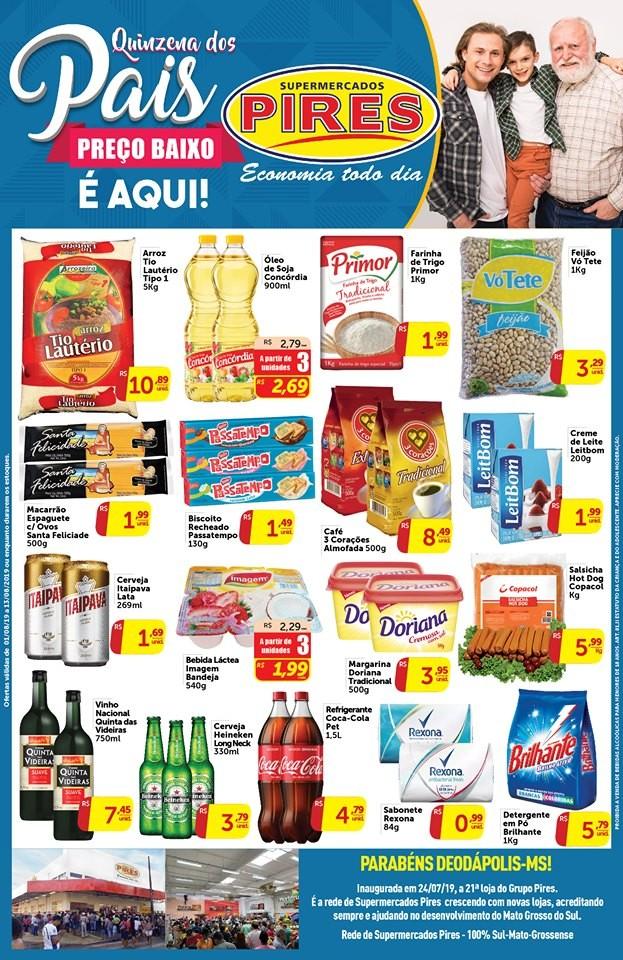 Na quinzena dos pais, preço baixo é no Supermercado Pires Deodápolis