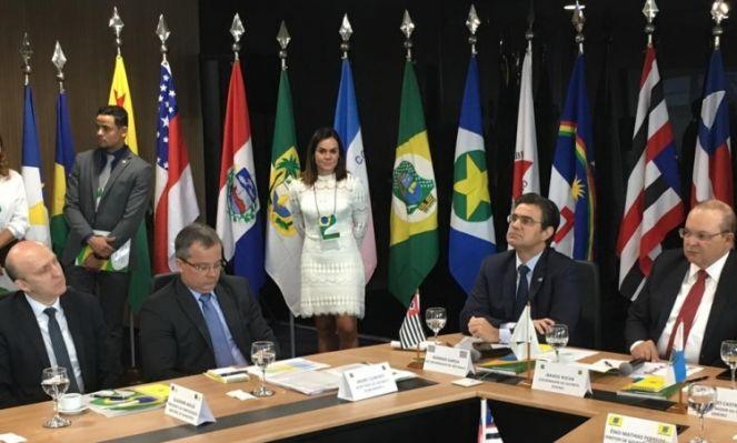 Gladimir Aroldi durante encontro com os governadores (Foto: Reprodução/Agência CNM)