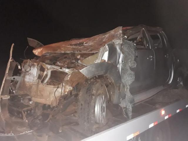 Mulher morreu em acidente na MS-040 - Crédito: Divulgação/PMR