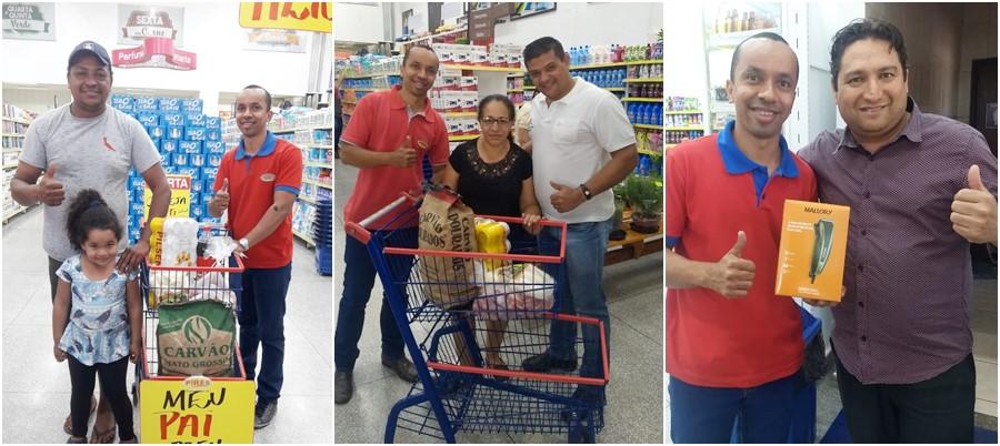 No dia dos pais, Supermercado Pires realizou sorteios em Deodápolis; veja os ganhadores