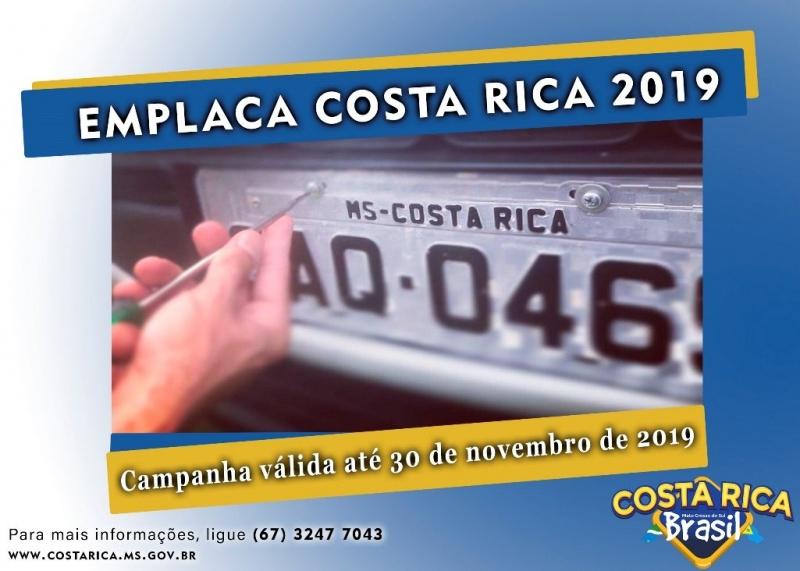 Costa Rica vai bancar emplacamento de carros de fora