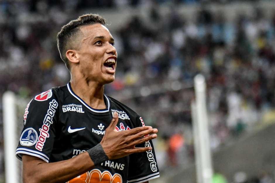 Pedrinho marcou o gol da classificação do Corinthians. Foto: Nayra Halm / Agência O Dia / Estadão