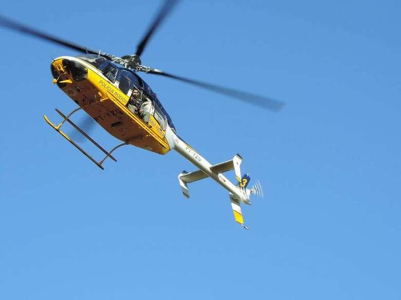Operação Adsumus conta com apoio de helicóptero - Crédito: André Bento/Arquivo
