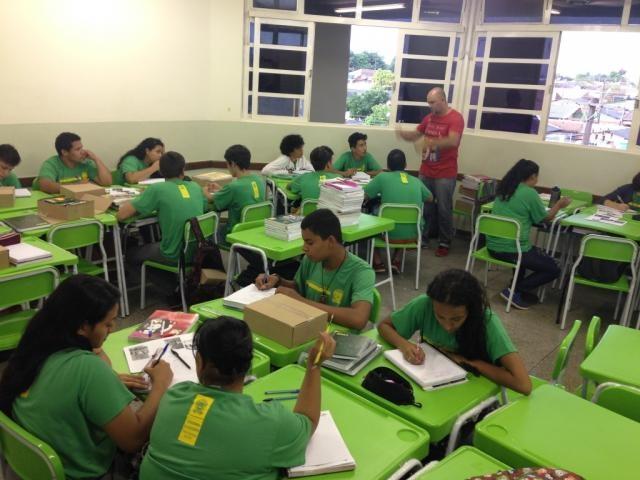 Escola Estadual Waldemir Barros da Silva, em Campo Grande (Foto: Divulgação/SED)