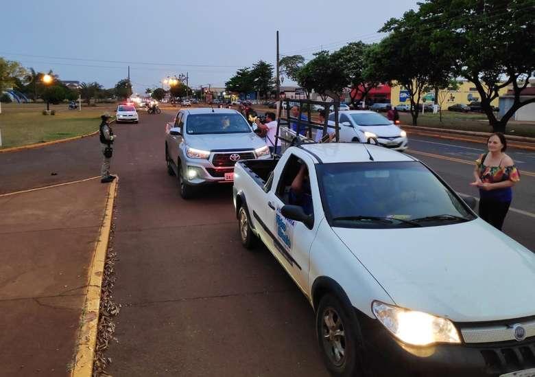 Mobilização na Coronel Ponciano - Fotos: Wellington Morais