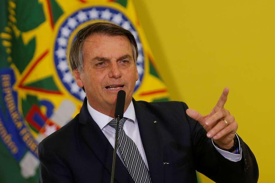 Presidente Bolsonaro durante cerimônia no Palácio do Planalto 03/09/2019 REUTERS/Adriano Machado Foto: Reuters