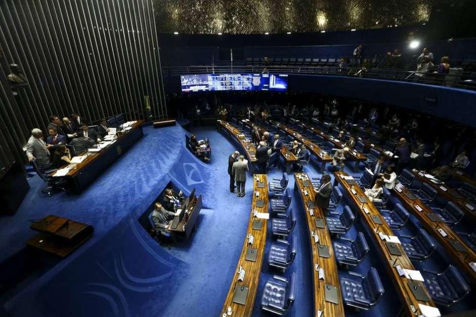 O plenário do Senado nesta quarta, 2 Foto: Marcelo Camargo/Agência Brasil / Estadão Conteúdo