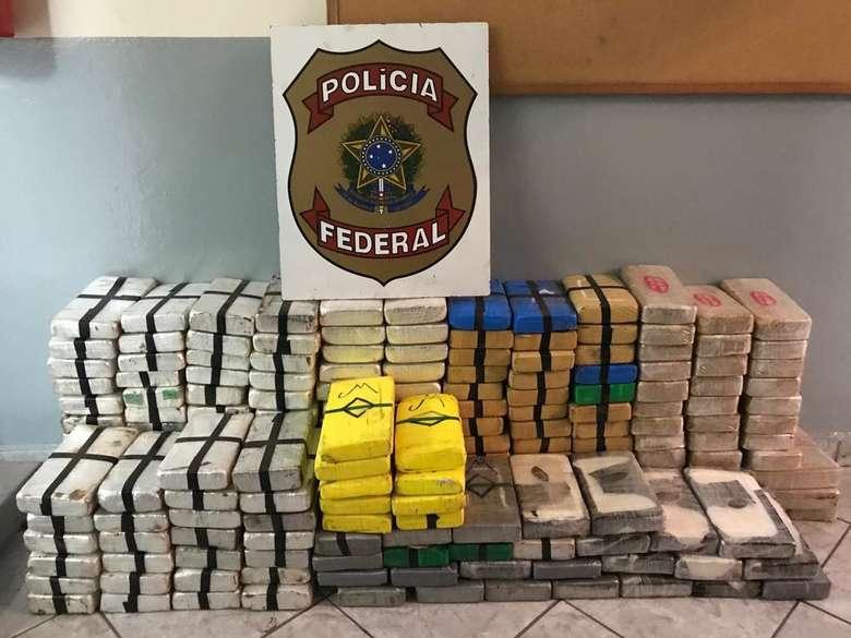 Carga de cocaína apreendida em MS - Crédito: Divulgação/PF