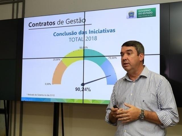 Secretário Eduardo Riedel, durante reunião do PPA (Foto: Divulgação/Governo MS)