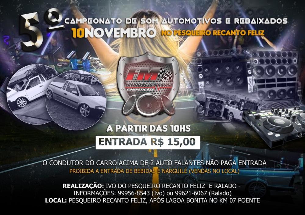 Neste domingo (10), 5º Encontro de Som Automotivo e carros rebaixados promete agitar Deodápolis e região